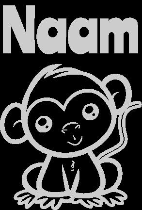 Geboortesticker Baby aapje
