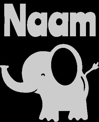 Geboortesticker baby olifantje