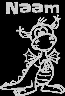 draakje geboortesticker