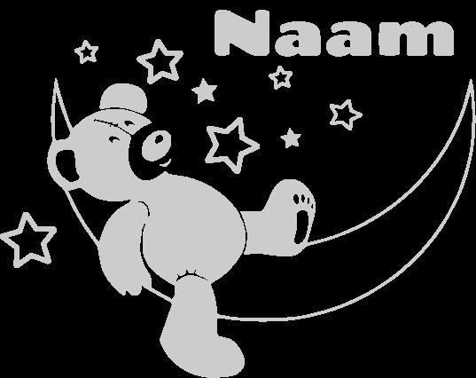 Geboortesticker Maanbeer