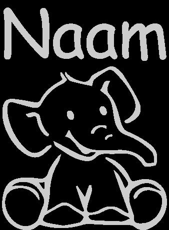 Geboortesticker Olifantje