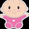 geboortesticker Baby een meisje