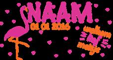hartjes flamingo geboortesticker