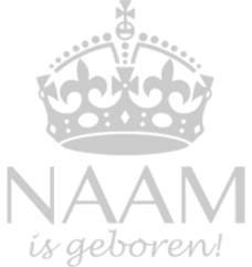 kroon geboortesticker