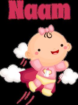 geboortesticker super baby meisje