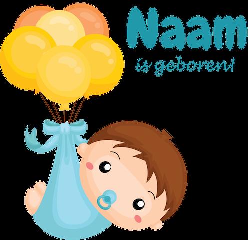 Geboortesticker ballonnen