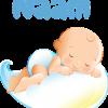 Geboortesticker babywolk