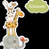 Geboortesticker dieren toren