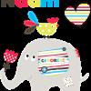 Geboortesticker olifantje met kip
