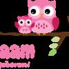 Geboortesticker roze uiltjes
