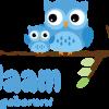 Geboortesticker blauwe uiltjes